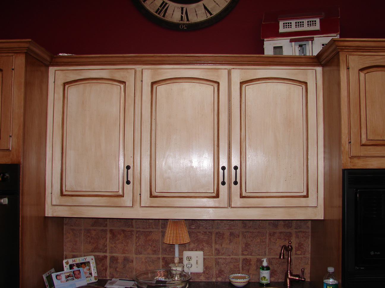 Distressed Country French Styled Cabinets